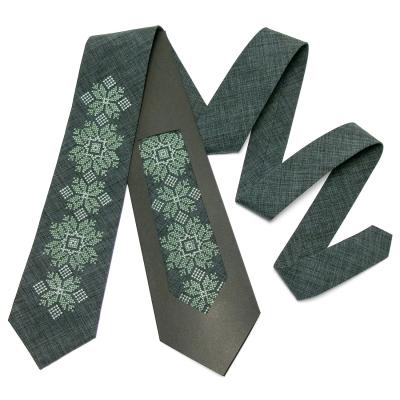 Модный вышитый галстук №665