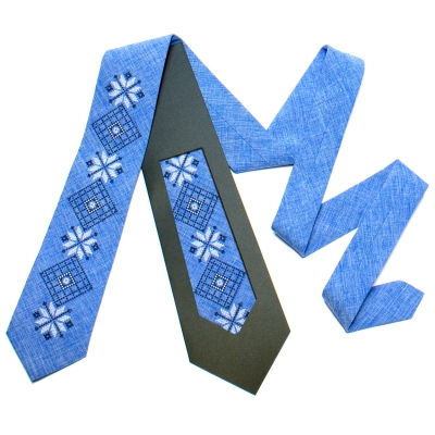 Вышитый галстук №733