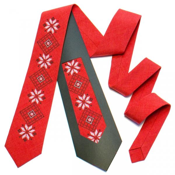 Вышитый галстук №736