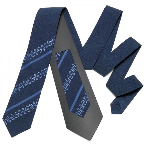 Оригинальный вышитый галстук №755