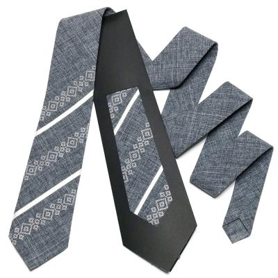 Оригинальный вышитый галстук №756