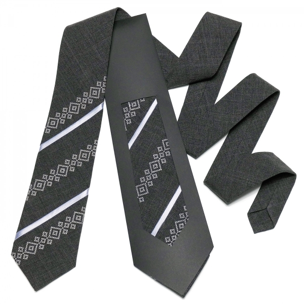 Оригинальный вышитый галстук №757
