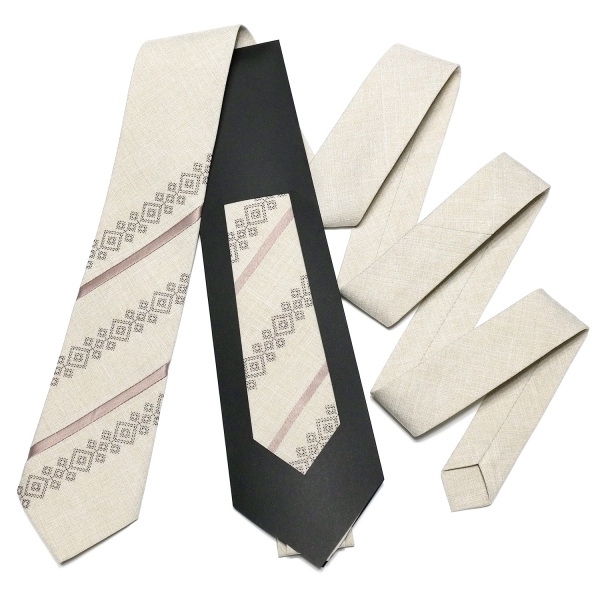 Оригинальный вышитый галстук №759