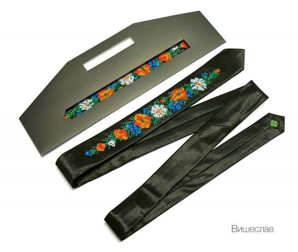 Узкий галстук с вышивкой Вищеслав