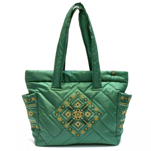 Дутая сумка с вышивкой №5