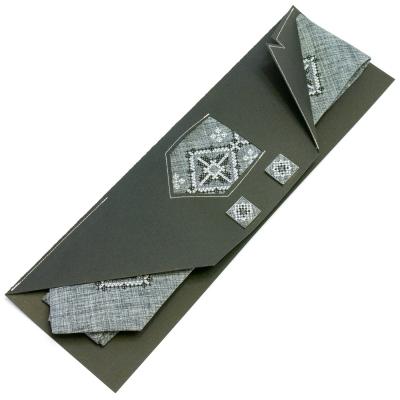 Вышитый галстук с запонками Услав