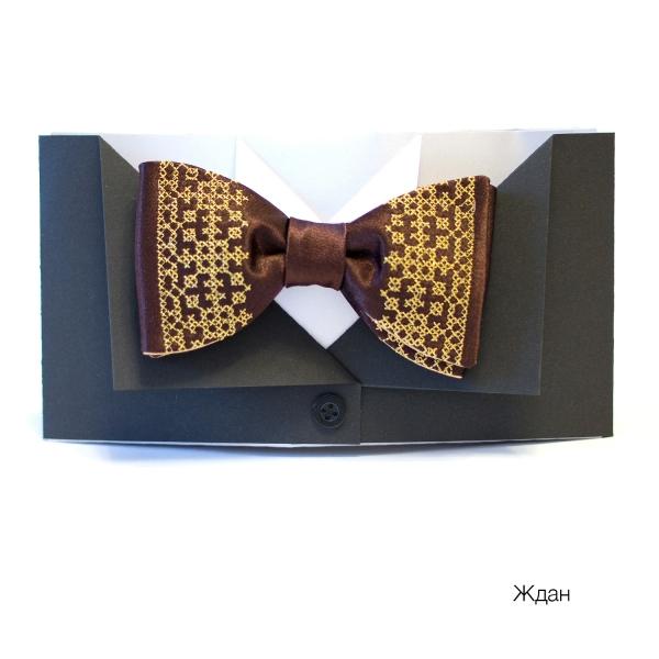 Вышитый галстук бабочка Ждан