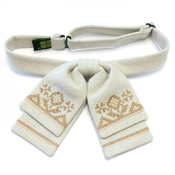 Женская бабочка-бант с вышивкой №581