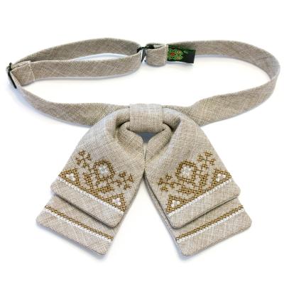 Женская бабочка-бант с вышивкой №584
