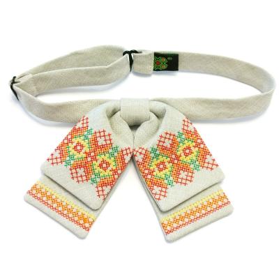 Женская бабочка-бант с вышивкой №588